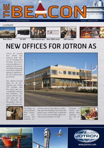 NEW OFFICES FOR JOTRON AS
