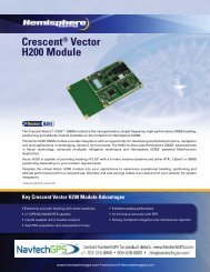 Crescent® Vector H200 Module - NavtechGPS