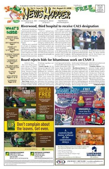8/23/08 - News Hopper