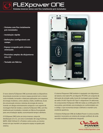 FLEXpowerTM ONE - OutBack Power Systems