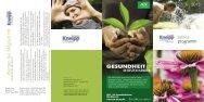 Jahresprogramm 2013 - Kneipp-Verein Biberach eV