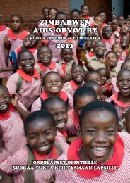 Vuosikertomus 2011 - Zimbabwen Aids-Orvot ry