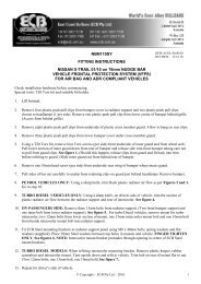 NBN110SY FITTING INSTRUCTIONS NISSAN X-TRAIL 01/10 on ...