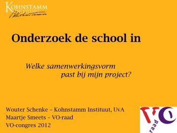 Download de presentatie - VO-raad