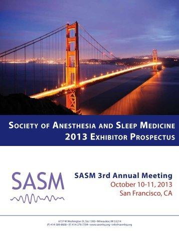 SASM 3rd Annual Meeting - Society of Anesthesia and Sleep Medicine