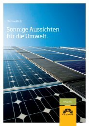 Sonnige Aussichten für die Umwelt. - Alpine Energie