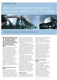 Ultra Low Emissions Solution for gas power plants in the ... - Wärtsilä