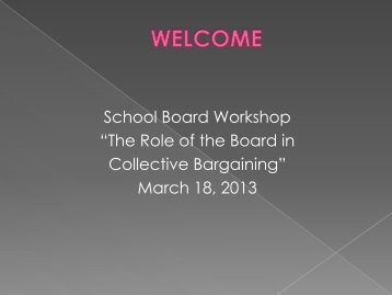 The Role of the Board in Collective Bargaining - San Luis Obispo ...