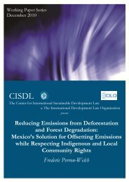 Reducing Emissions from Deforestation and Forest ... - CISDL