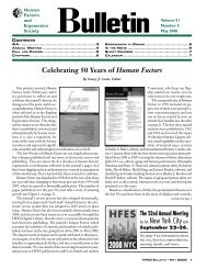 May 2008 - Human Factors and Ergonomics Society
