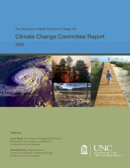 Climate Change Committee Report - Institute for the Environment at ...