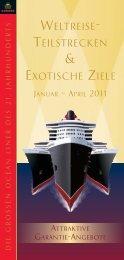 WELTREISE- TEILSTRECKEN EXOTISCHE ZIELE - Cunard