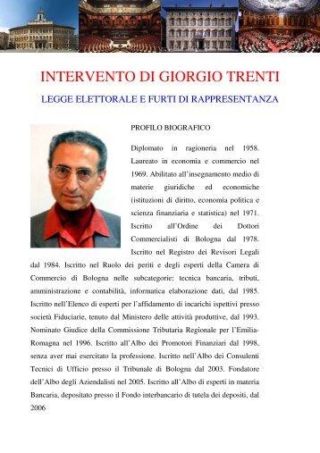 INTERVENTO DI GIORGIO TRENTI - lostatoperfetto.it