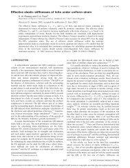 Effective elastic stiffnesses of InAs under uniform strain