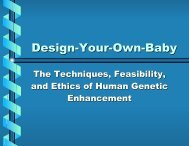 Design-Your-Own-Baby: The Techniques, Feasibility, and Ethics of