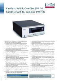 CamDisc SVR 4, CamDisc SVR 10 CamDisc SVR 4s, CamDisc SVR ...