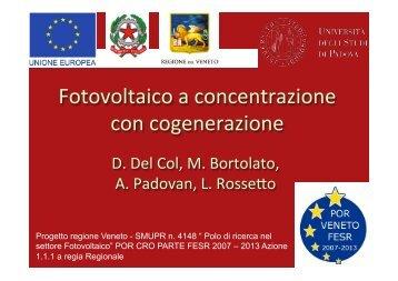 """Sandro Centro / Davide Del Col """"Fotovoltaico a Concentrazione"""""""