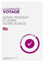 garantie voyage - SNCF.com