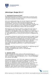 Notat om udfordringer - Fredensborg Kommune