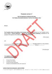 Draft contract - Translation Centre for the Bodies of the European ...