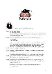 Elisa Lönnrot – Kalevalan kokoaja 1802 1822 1832 1833 1869 ...