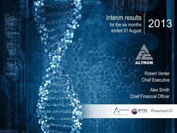 Analyst presentation - Altron