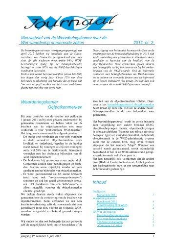 WOZ-journaal 2012, nr 2 - Waarderingskamer