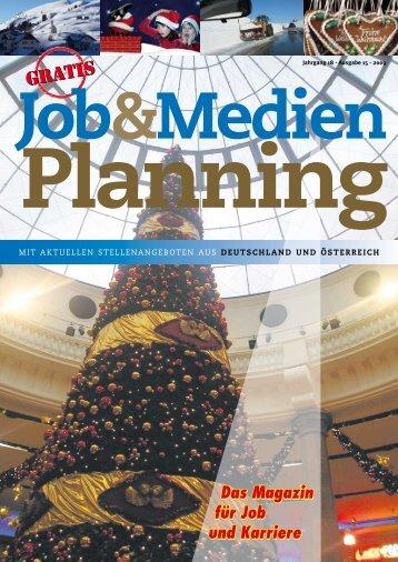Jahrgang 18 - Ausgabe 15 - Jobs und Stellenangebote aus ...