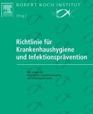 Richtlinie für Krankenhaushygiene und Infektionsprävention