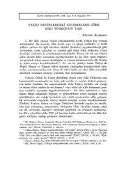 Yazılı Devirlerdeki Gelişmelere Göre Eski Türkçenin Yaşı