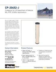 CP-20452-J Coalescer Filter - Bolland Machine