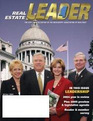 Real Estate LEADER Magazine - Mississippi Association of ...