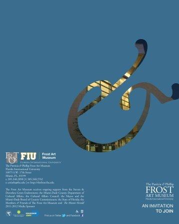 Become a member. - Frost Art Museum - Florida International ...