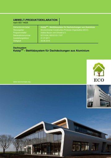 ECO EPD - Kalzip