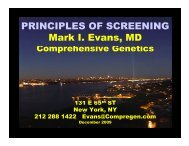 PRINCIPLES OF SCREENING Mark I. Evans, MD - ResearchGate