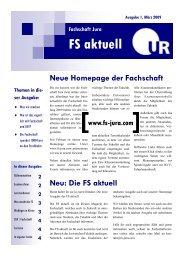 Ausgabe 1 - Fachschaft Jura Universität Regensburg