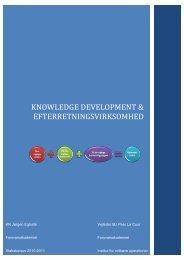 Knowledge development & efterretningsvirksomhed