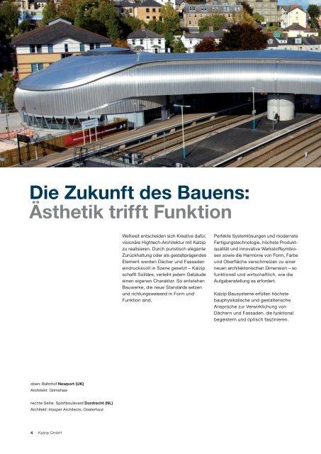 Kalzip® Gebäudehüllen aus Aluminium Kalzip® hüllen aus ...
