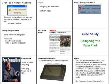 Case Study Designing the Palm Pilot