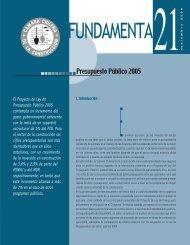 Presupuesto Público 2005 - Biblioteca - Cámara Chilena de la ...