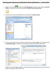 E-Mail Einrichtung Outlook 2007 - GO.de