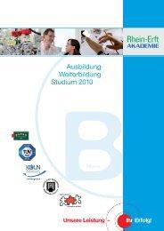 Rea Folder_Bildung_2010:REA_ Bildung - Rhein-Erft-Akademie