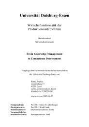 Universität Duisburg-Essen - netzwerklernen