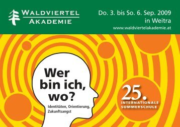 Sommerschule 2009 - Waldviertel Akademie