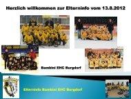 Elterninformation vom 13.08.2012 19:00Uhr - EHC Burgdorf