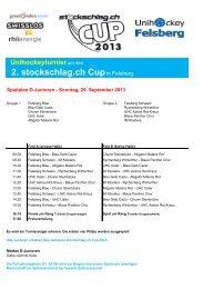 Spielplan D Junioren - Blau-Gelb Cazis