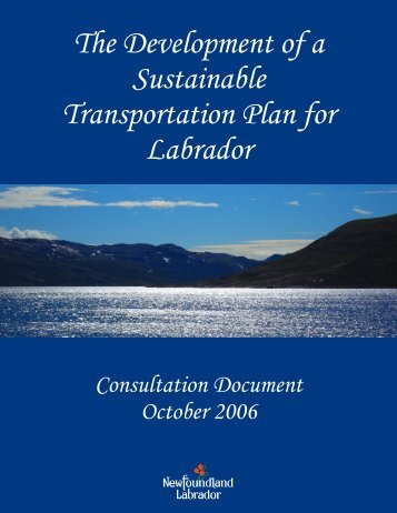 The Development of a Sustainable Transportation Plan for Labrador