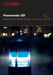 Promenade LED Brochure - THORN Lighting