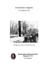Rapport 15 - Gruvkanalen i Höganäs - Stawfordska Sällskapet