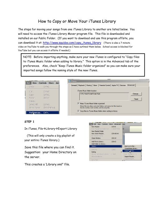 How to Copy or Move Your iTunes Library - Dickinson Public